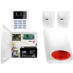 System alarmowy z GSM: Płyta główna CA-5 + Manipulator CA-5 KLED-S + 2x Czujnik ruchu + Moduł GSM + Akcesoria