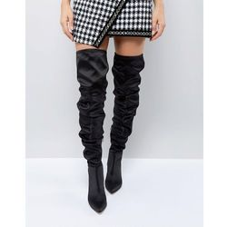 ASOS KENZIE Slouch Over The Knee Boots - Black