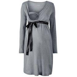 Sukienka ciążowa i do karmienia bonprix szary melanż