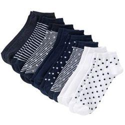 Skarpety do sneakersów bonprix niebieski melanż w paski + w kropki