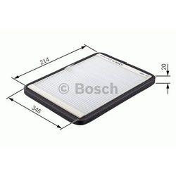 Filtr, wentylacja przestrzeni pasażerskiej BOSCH 1 987 432 033