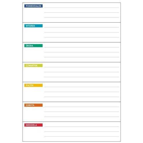 Tablice szkolne, wyprzedaż: tablica suchościeralna planer tygodniowy 70x100cm