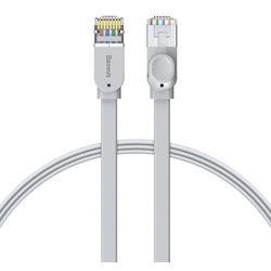 Baseus płaski kabel przewód internetowy sieciowy Ethernet patchcord RJ45 Cat 6 1000Mbps 3 m szary (PCWL-C0G) - 3 \ Szary