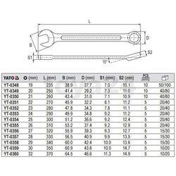 Klucz płasko-oczkowy z polerowaną główką 26 mm Yato YT-0355 - ZYSKAJ RABAT 30 ZŁ