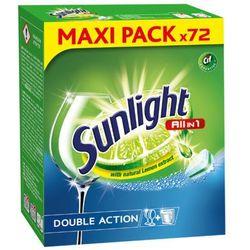 SUNLIGHT 72szt All in 1 Regular Double action Tabletki do zmywarek z ekstraktem z cytryny
