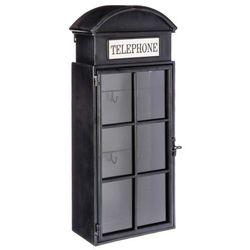 Metalowa szafka na klucze z motywem angielskiej budki telefonicznej