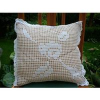 Poszewki, Poszewka na poduszkę zrobiona na szydełku (1)