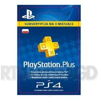 Kody i karty przedpłacone, Sony Subskrypcja PlayStation Plus 3 m-ce [kod aktywacyjny] zestaw