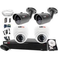 Zestawy monitoringowe, Kompletny system monitoringu na 4 kamery jakość HD LV-AL30MT i LV-AL1M2FDPWH Rejestrator LV-XVR44N Dysk 1TB Akcesoria