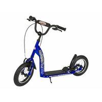 """Hulajnogi, Hulajnoga dla dzieci pompowane koła 12"""" BikeStar kolor niebieski"""