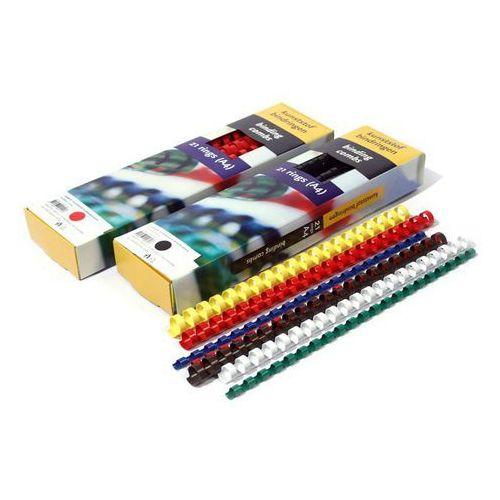 Grzbiety do bindownic, Grzbiety do bindowania plastikowe, czerwone, 22 mm, 50 sztuk, oprawa do 210 kartek - Autoryzowana dystrybucja - Szybka dostawa - Tel.(34)366-72-72 - sklep@solokolos.pl