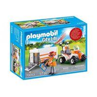 Klocki dla dzieci, Playmobil CITY LIFE Quad ratowniczy z przyczepką 70053