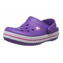 Crocs Kids Crocband Neon Purple Magenta Fioletowo-różowe klapki dla dzieci Różne rozmiary