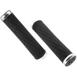 Chwyty kierownicy Sram Locking Grips for XX1 Grip Shift 100mm i 122mm czarne ze srebrną obejmą