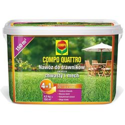 Nawóz do trawników zwalcza chwasty i mech 4w1 4,5kg Compo Quattro