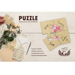 Puzzle - zaproszenia ślubne dla świadków - cyfrowy druk UV - ZAP011