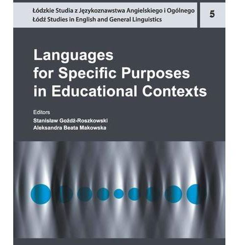 E-booki, Languages for Specific Purposes in Educational Contexts