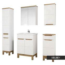 SELSEY Zestaw mebli łazienkowych Jakkarta biały
