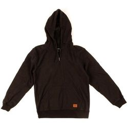 bluza BRIXTON - Longman 1/2 Zip Hood Fleece Washed Black (WABLK) rozmiar: M