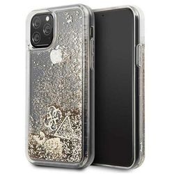 Guess GUHCN58GLHFLGO iPhone 11 Pro gold/złoty hard case Glitter Hearts - Złoty