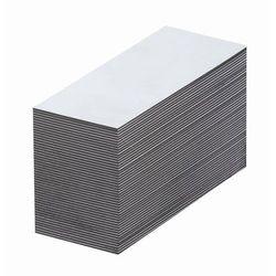 Magnetyczna tablica magazynowa, białe, wys. x szer. 10x80 mm, opak. 100 szt. Zap