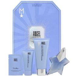 Thierry Mugler Angel, Zestaw podarunkowy, woda perfumowana 25ml + mleczko do ciała 100ml + Żel pod prysznic 30ml + krem do ciała 10ml