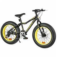 Pozostałe rowery, Rower INDIANA Fat Bike M18 Żółty | 5 LAT GWARANCJI NA RAMĘ DARMOWY TRANSPORT