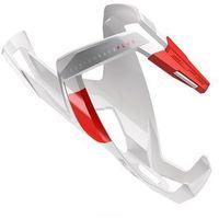 Bidony i koszyki, Koszyk na bidon ELITE Custom Race Plus biały-czerwony / Wykończenie: połysk