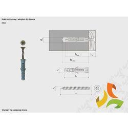 KRX 6/3,5x30 kołek rozporowy z wkrętem do drewna (200szt)