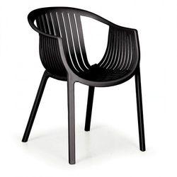 Fotel ogrodowy LOUNGE, czarny, 3+1 GRATIS