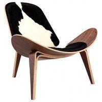 Krzesła, Krzesło inspirowane proj. Shell Chair - pony czarne łaty