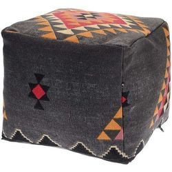 Poduszka dekoracyjna BOHO, podłogowa - kolor grafitowy