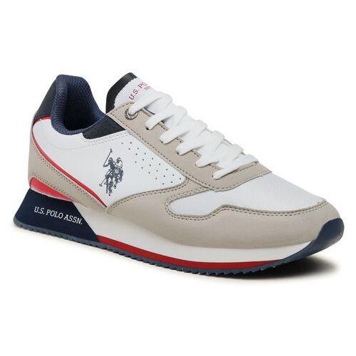 Męskie obuwie sportowe, Sneakersy U.S. POLO ASSN. - Nobil 183 NOBIL4183S1/HY1 Off Ligr