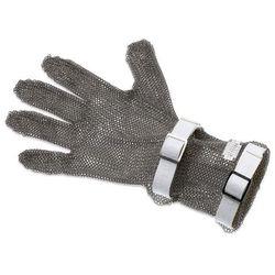 Rękawica metalowa z białymi paskami, średnia, rozmiar S | GIESSER, 9590 08