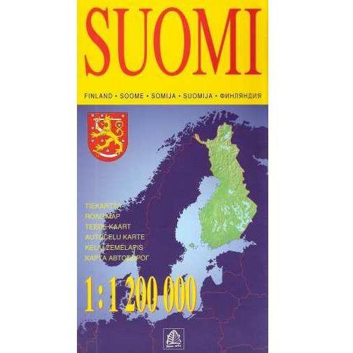 Mapy i atlasy turystyczne, Finlandia mapa 1:1 200 000 Jana Seta (opr. twarda)