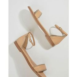 Missguided Studded Flat Sandals - Beige