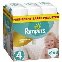Pieluchy jednorazowe, PAMPERS Premium Care 4 MAXI 168 szt. (8-14 kg) ZAPAS NA MIESIĄC - pieluchy jednorazowe