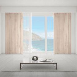 Zasłona okienna na wymiar - PASTEL CLASSIC THICK WOODEN BOARDS