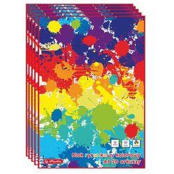Blok rysunkowy kolorowy A3 20k 80g/m2 5szt HERLITZ