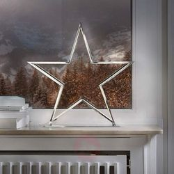 Lampa dekoracyjna Lucy gwiazda, chrom, wys. 50 cm