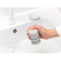 Szczotka do mycia naczyń sink side jasnoszara z dozownikiem