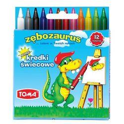 Kredki świecowe Toma Zębozaurus TO-558 24kol.