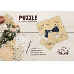Puzzle - zaproszenia ślubne dla świadków - cyfrowy druk UV - ZAP014