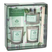 Akcesoria do aromaterapii, Komplet dyfuzora i świeczek Verbena Paczula
