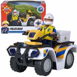 Strażak Sam Quad policyjny i figurka Malcolma