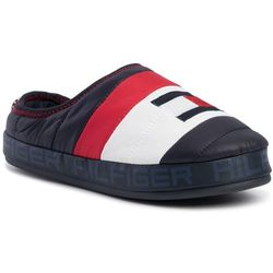 Kapcie TOMMY HILFIGER - Flag Padded Homeslipper FM0FM02358 Midnight 403