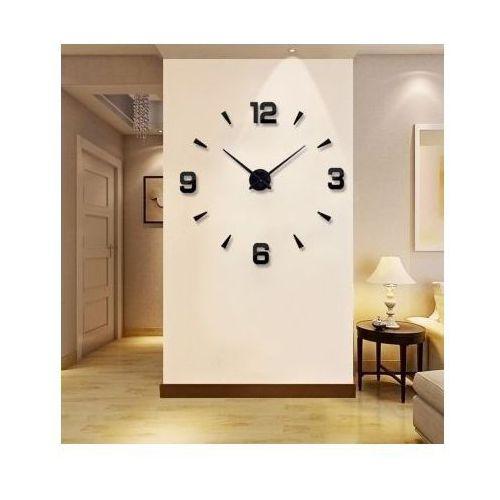 Zegary, Ogromny Zegar Ścienny 3D (regulowana średnica od 70-150cm!!) - w 2 Kolorach do Wyboru.