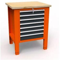 """Stół warsztatowy na narzędzia SWT 07/04 """"JEDYNKA"""" 7 szuflad klucz"""