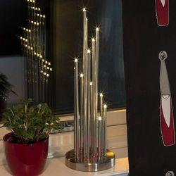 Okrągły, metalowy świecznik z LED, 12-pkt.