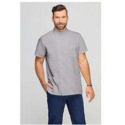 Bluza medyczna męska z boczną stójką szara